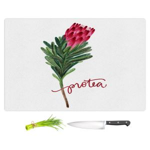 Artistic Kitchen Bar Cutting Boards | Noonday Design - Protea Flower | Colorful Floral Pattern