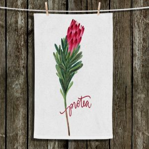 Unique Bathroom Towels | Noonday Design - Protea Flower | Colorful Floral Pattern