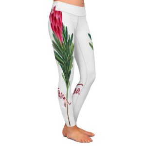 Casual Comfortable Leggings | Noonday Design - Protea Flower | Colorful Floral Pattern