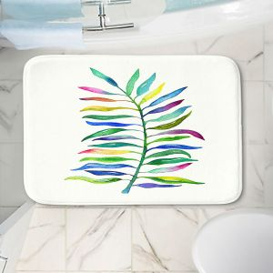 Decorative Bathroom Mats | Noonday Design - Watercolor Branch | Colorful Floral Pattern