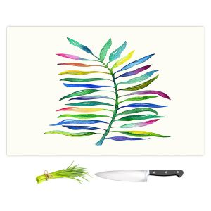 Artistic Kitchen Bar Cutting Boards | Noonday Design - Watercolor Branch | Colorful Floral Pattern