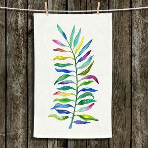 Unique Hanging Tea Towels | Noonday Design - Watercolor Branch | Colorful Floral Pattern