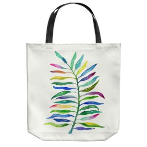 Unique Shoulder Bag Tote Bags | Noonday Design - Watercolor Branch | Colorful Floral Pattern