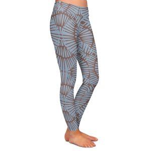 Casual Comfortable Leggings | Traci Nichole Design Studio - Basket Weave Blueberry | Patterns