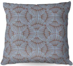 Decorative Outdoor Patio Pillow Cushion | Traci Nichole Design Studio - Basket Weave Blueberry | Patterns