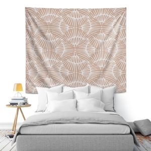 Artistic Wall Tapestry   Traci Nichole Design Studio - Basket Weave Taupe   Patterns