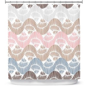 Premium Shower Curtains | Traci Nichole Design Studio - Bookworm Sweet Tart | Patterns Boho Chic