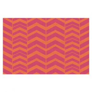 Decorative Floor Coverings | Traci Nichole Design Studio - Chevron Berry Citrus