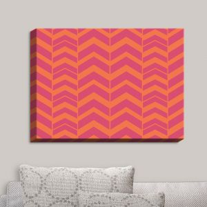 Decorative Canvas Wall Art | Traci Nichole Design Studio - Chevron Berry Citrus | Patterns