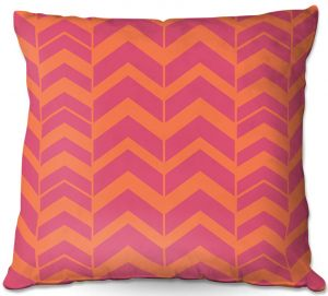 Throw Pillows Decorative Artistic | Traci Nichole Design Studio - Chevron Berry Citrus