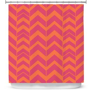 Premium Shower Curtains | Traci Nichole Design Studio - Chevron Berry Citrus