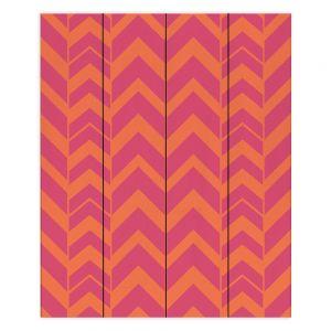 Decorative Wood Plank Wall Art   Traci Nichole Design Studio - Chevron Berry Citrus