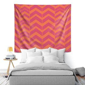 Artistic Wall Tapestry | Traci Nichole Design Studio - Chevron Berry Citrus
