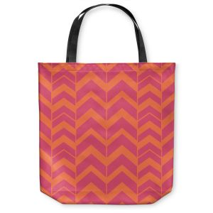 Unique Shoulder Bag Tote Bags | Traci Nichole Design Studio - Chevron Berry Citrus