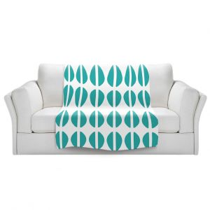 Artistic Sherpa Pile Blankets   Traci Nichole Design Studio - Cowrie Stripe Blue