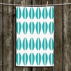 Unique Bathroom Towels | Traci Nichole Design Studio - Cowrie Stripe Blue
