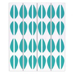 Decorative Wood Plank Wall Art | Traci Nichole Design Studio - Cowrie Stripe Blue