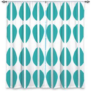 Decorative Window Treatments   Traci Nichole Design Studio - Cowrie Stripe Blue