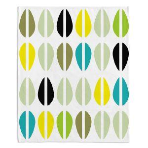 Artistic Sherpa Pile Blankets | Traci Nichole Design Studio - Cowrie Stripe Multi