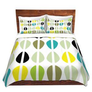 Artistic Duvet Covers and Shams Bedding | Traci Nichole Design Studio - Cowrie Stripe Multi