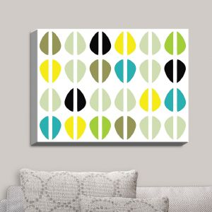Decorative Canvas Wall Art | Traci Nichole Design Studio - Cowrie Stripe Multi | Patterns