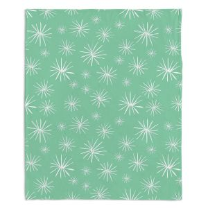 Decorative Fleece Throw Blankets | Traci Nichole Design Studio - Dandelions Parsley
