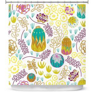 Premium Shower Curtains | Traci Nichole Design Studio - Desert Garden