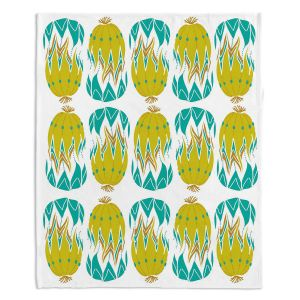 Decorative Fleece Throw Blankets | Traci Nichole Design Studio - Euphorbia Aloe