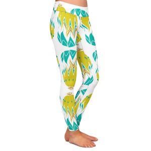 Casual Comfortable Leggings | Traci Nichole Design Studio - Euphorbia Aloe