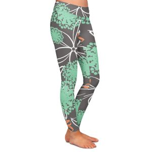 Casual Comfortable Leggings | Traci Nichole Design Studio - Garden Party Grey