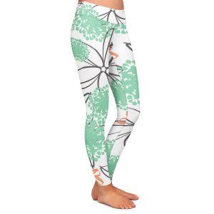 Casual Comfortable Leggings | Traci Nichole Design Studio - Garden Party White