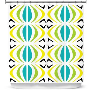 Premium Shower Curtains | Traci Nichole Design Studio - Glyph Multi