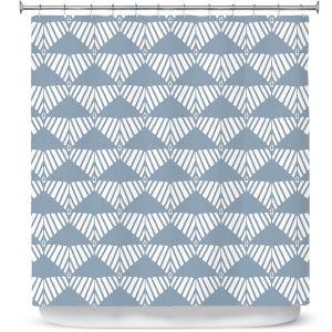 Premium Shower Curtains | Traci Nichole Design Studio - Market Mountain Mist | Patterns