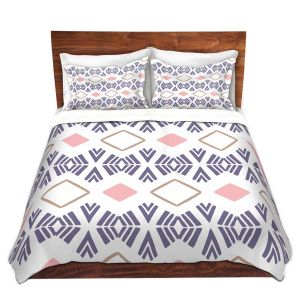 Artistic Duvet Covers and Shams Bedding | Traci Nichole Design Studio - Market Stripe Tart | Patterns Southwestern