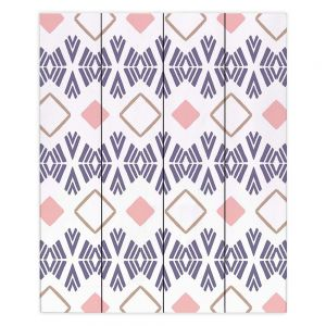 Decorative Wood Plank Wall Art   Traci Nichole Design Studio - Market Stripe Tart   Patterns Southwestern