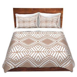 Artistic Duvet Covers and Shams Bedding   Traci Nichole Design Studio - Market Diamond Cafe   Patterns Southwestern