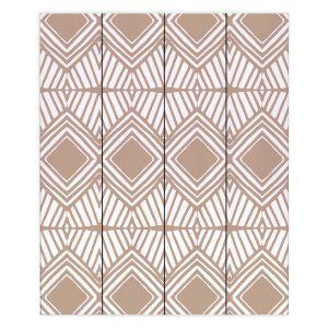 Decorative Wood Plank Wall Art   Traci Nichole Design Studio - Market Diamond Cafe   Patterns Southwestern
