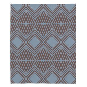 Decorative Fleece Throw Blankets | Traci Nichole Design Studio - Market Diamond Shadow | Patterns Southwestern