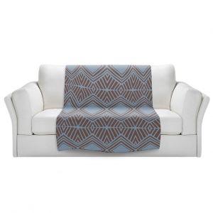 Artistic Sherpa Pile Blankets | Traci Nichole Design Studio - Market Diamond Shadow | Patterns Southwestern