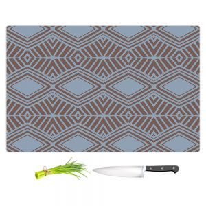 Artistic Kitchen Bar Cutting Boards | Traci Nichole Design Studio - Market Diamond Shadow | Patterns Southwestern