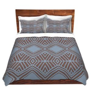 Artistic Duvet Covers and Shams Bedding | Traci Nichole Design Studio - Market Diamond Shadow | Patterns Southwestern