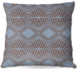 Decorative Outdoor Patio Pillow Cushion | Traci Nichole Design Studio - Market Diamond Shadow | Patterns Southwestern
