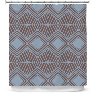Premium Shower Curtains | Traci Nichole Design Studio - Market Diamond Shadow | Patterns Southwestern