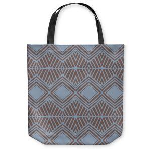 Unique Shoulder Bag Tote Bags | Traci Nichole Design Studio - Market Diamond Shadow | Patterns Southwestern