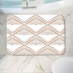 Decorative Bathroom Mats | Traci Nichole Design Studio - Market Mono Pyramid Cafe | Patterns Southwestern