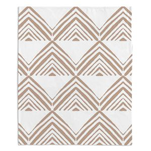 Decorative Fleece Throw Blankets | Traci Nichole Design Studio - Market Mono Pyramid Cafe | Patterns Southwestern