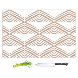 Artistic Kitchen Bar Cutting Boards | Traci Nichole Design Studio - Market Mono Pyramid Cafe | Patterns Southwestern