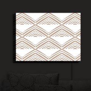 Nightlight Sconce Canvas Light | Traci Nichole Design Studio - Market Mono Pyramid Cafe