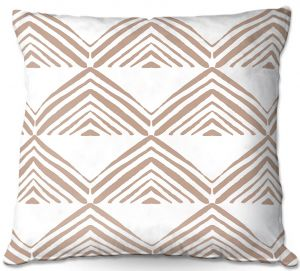 Decorative Outdoor Patio Pillow Cushion | Traci Nichole Design Studio - Market Mono Pyramid Cafe | Patterns Southwestern