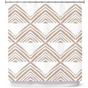 Premium Shower Curtains | Traci Nichole Design Studio - Market Mono Pyramid Cafe | Patterns Southwestern
